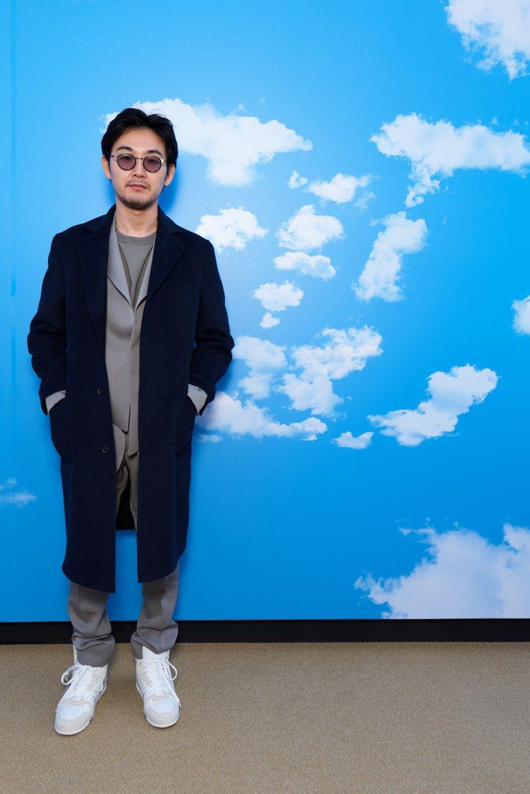 日劇「無法成為野獸的我們」男星松田龍平出席2020秋冬發表。圖/LV提供