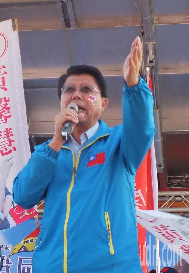 國民黨台南市黨部主委謝龍介。趙容萱/攝影
