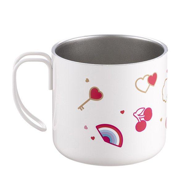 愛情密語不鏽鋼把手杯,售價650元。圖/星巴克提供