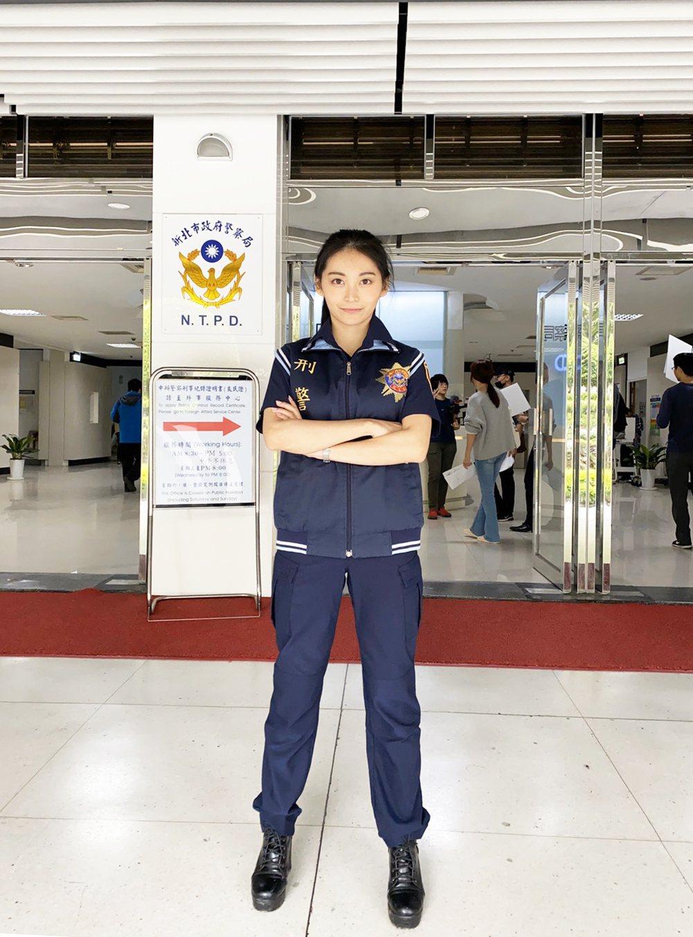 祈錦鈅三度受邀擔任「正妹刑警」,宣導防竊觀念。圖/固力狗娛樂提供