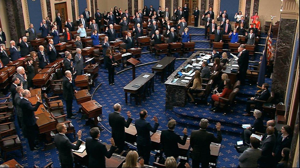 美國國會參議院最快21日將對總統川普展開世紀大審。美聯社