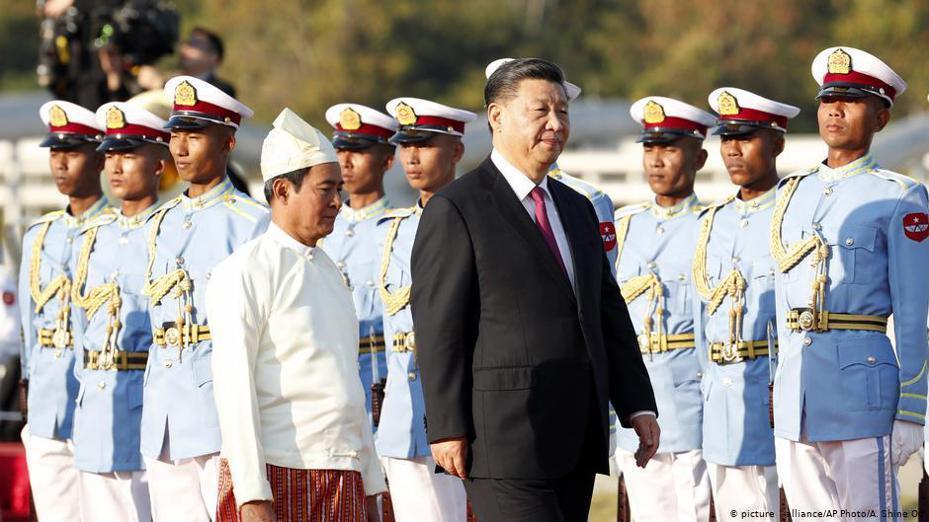 中國國家主席習近平周五(1月17日)抵達緬甸首都奈比多,開始對該國進行為期兩天的訪問。圖/德國之聲中文網