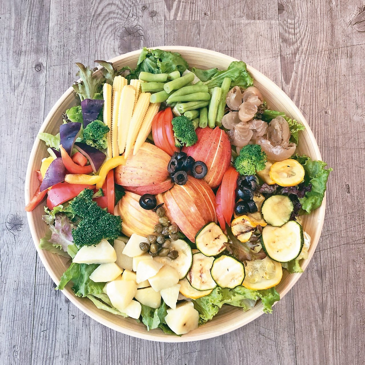 鮮蔬素沙拉。 圖/陳怡均提供
