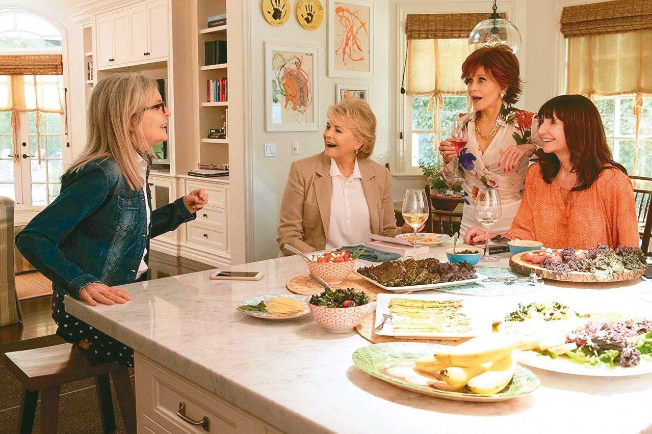 四大影后在「高年級姐妹會」演活熟齡女性對浪漫的渴望。 圖/摘自imdb