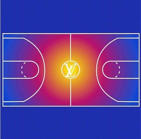 路易威登將於1月22日在巴黎蒙田大道旗艦店發表#LVxNBA系列。圖/取自wwd...
