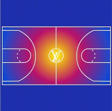 路易威登將於1月22日在巴黎蒙田大道旗艦店發表#LVxNBA系列。圖/取自wwd.com
