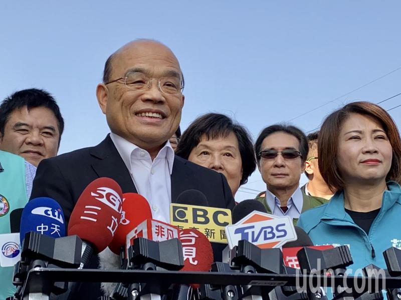行政院長蘇貞昌今早出席屏東2020熱帶農業博覽會開幕。記者江國豪/攝影
