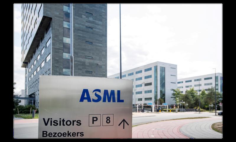 荷蘭半導體設備大廠艾司摩爾(ASML)捲入中美科技戰。圖為ASML位於荷蘭的總部。(路透)