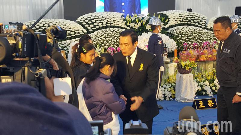 前總統馬英九到場致祭。記者胡蓬生/攝影