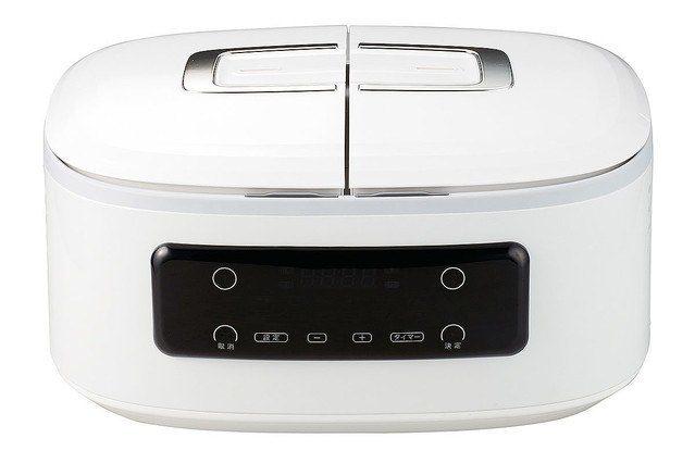 日本新上市的自動調理鍋「ツインシェフTwin Chef 」造型輕巧好收納。圖/翻...
