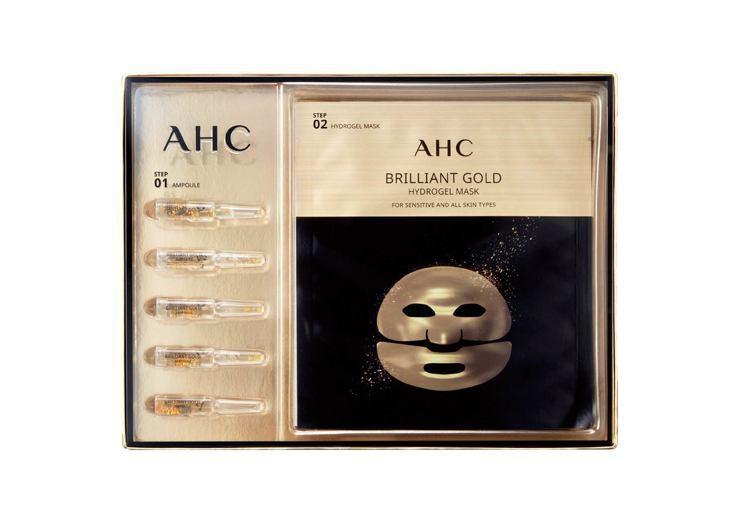 AHC黃金蠶絲蛋白安瓶面膜5入,原價1,200元、特價948元。圖/屈臣氏提供