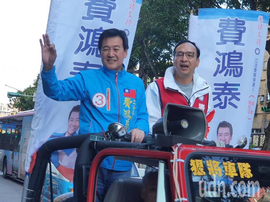國民黨立委費鴻泰(左)。記者楊正海/攝影