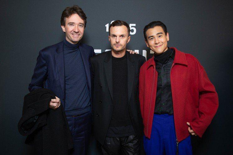 (左起)LVMH集團小王子Antoine Arnault、創意總監Kris Va...