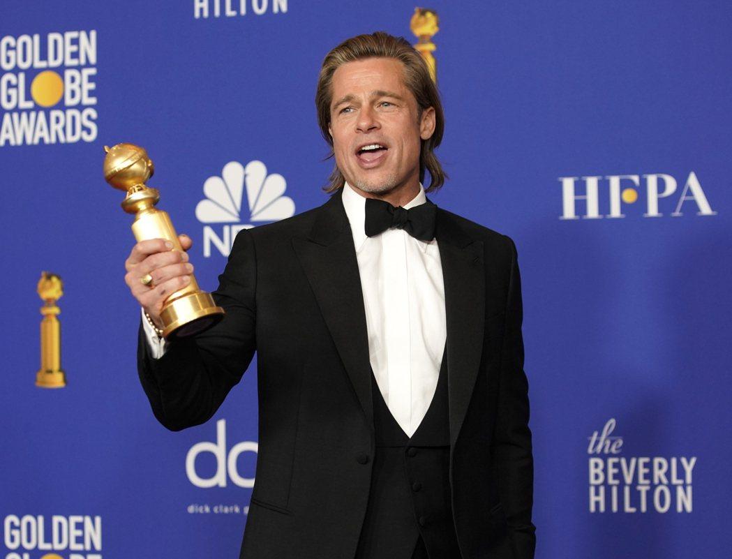 布萊德彼特才剛拿到金球獎,奧斯卡的得獎氣勢也被看好。圖/路透資料照片