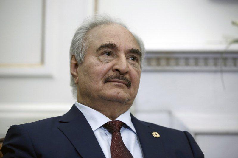 圖為利比亞東部軍事強人哈夫塔(Khalifa Haftar)。 歐新社