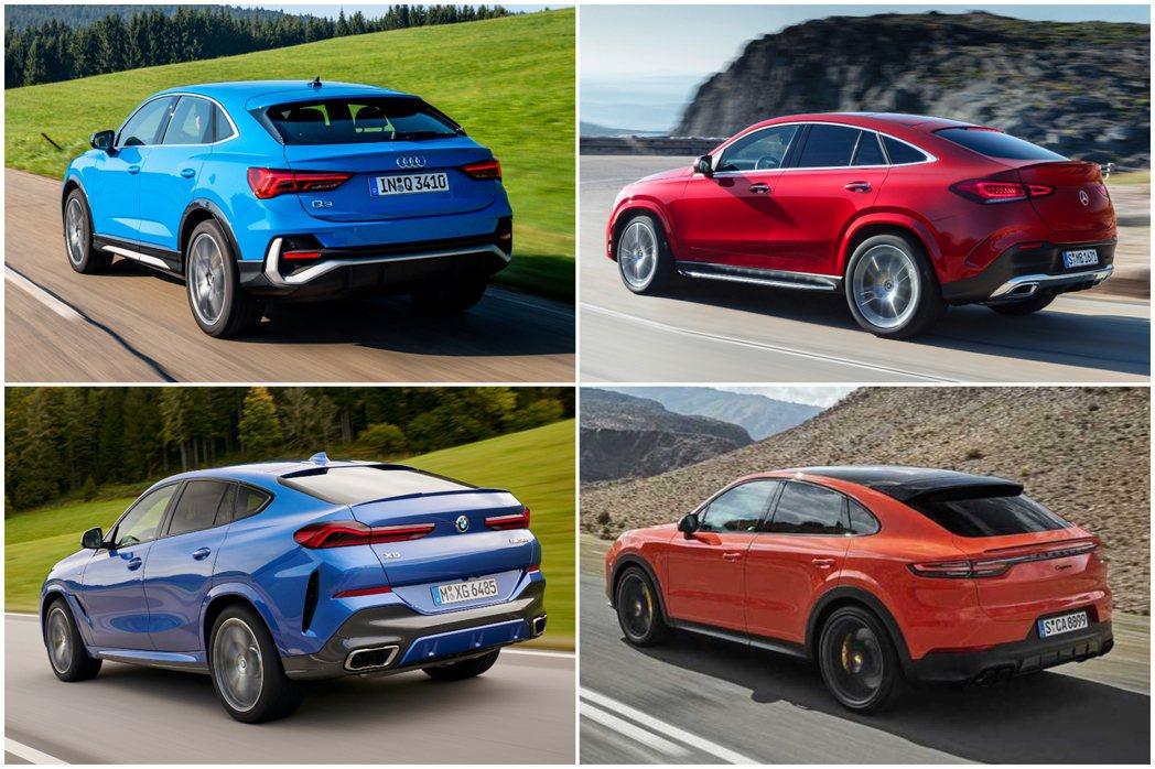 德國豪華品牌不約而同的在2019年推出全新Coupe-SUV。 圖/各車廠提供