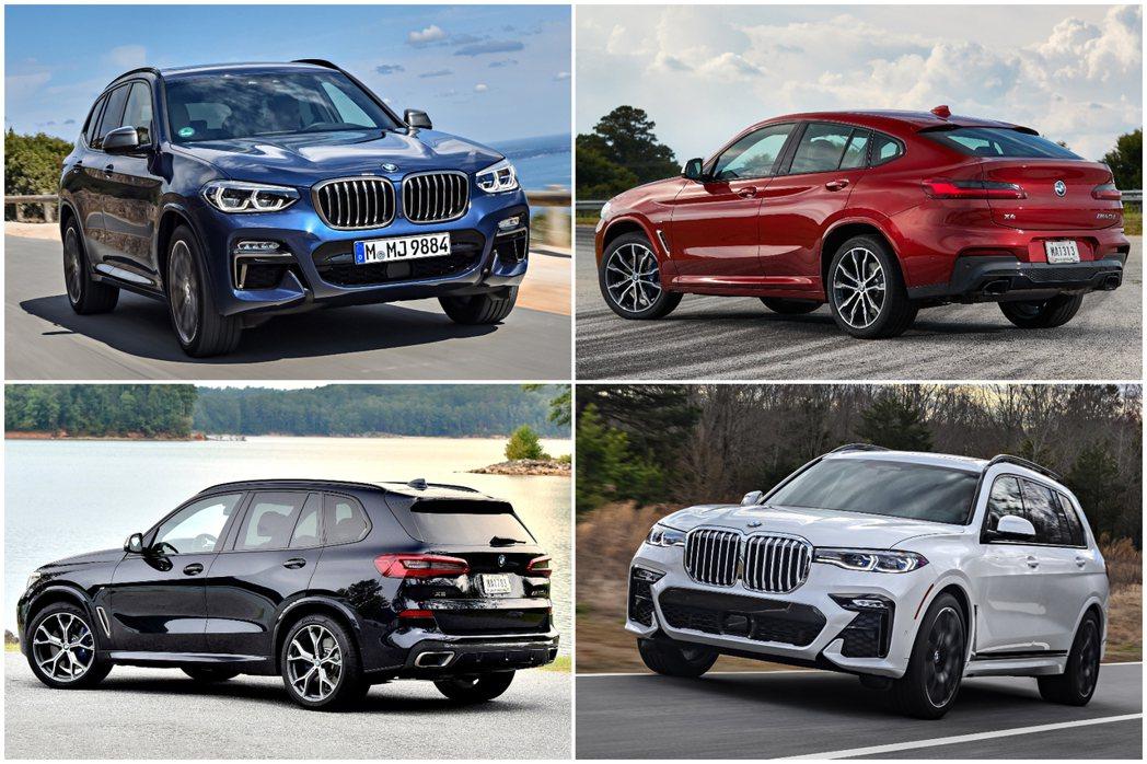 BMW X Series休旅車系在2019年共售出超過95萬輛。 摘自BMW