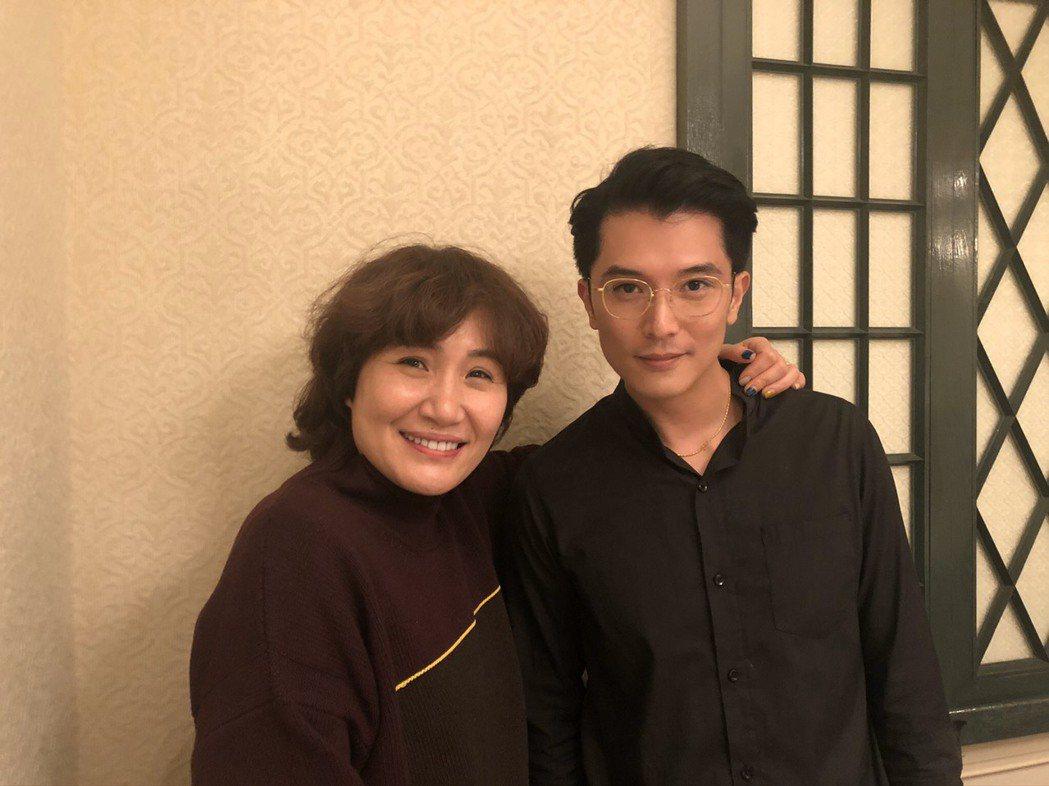邱澤、徐譽庭出席海納百川經紀公司尾牙,透露未來將會再度合作。記者陳建嘉攝