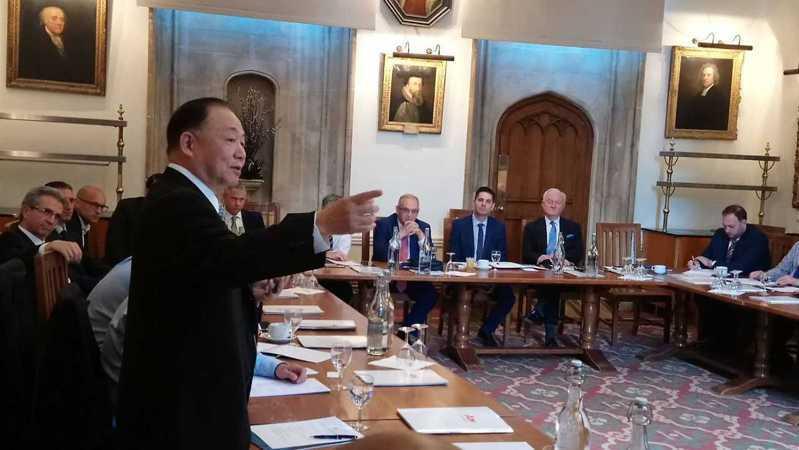 政黨輪替後,陳永康仍然活躍於國際戰略學界,經常出國演講或參加學術討論。圖/陳永康提供