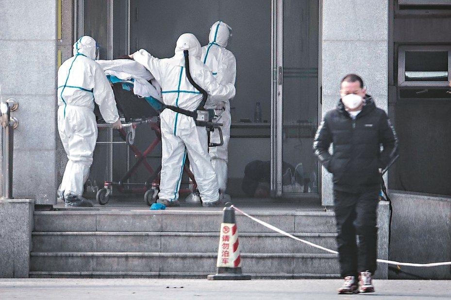 新型冠狀病毒感染的肺炎病例集中在湖北武漢市金銀潭醫院接受治療,感染規模恐遠大於官方報導。 法新社
