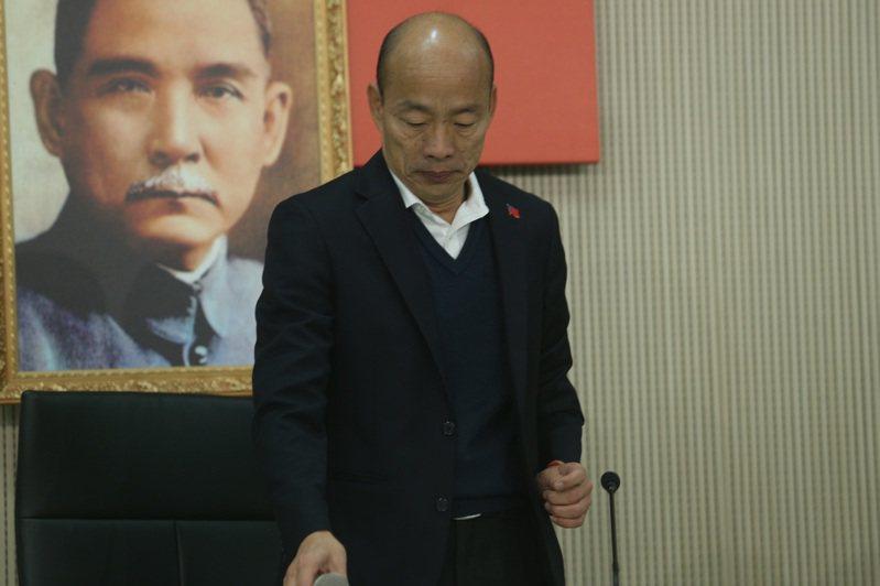高雄市長韓國瑜。聯合報系資料照片/記者劉學聖攝影