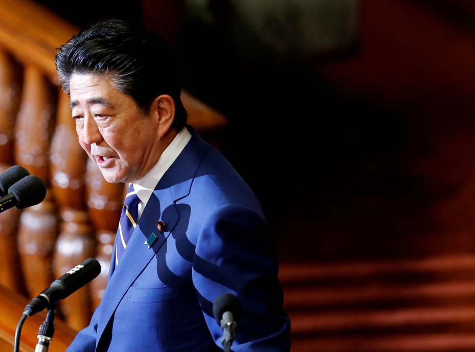 日本首相安倍三表示,日本將組建一隻太空防禦部隊。 路透社