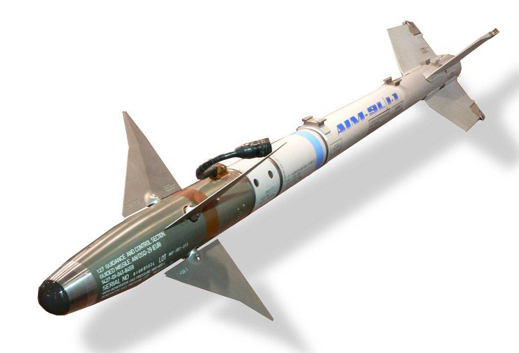 響尾蛇從AIM-9L開始具備全向位攻擊能力,國軍現役的AIM-9M與其外型幾乎完...