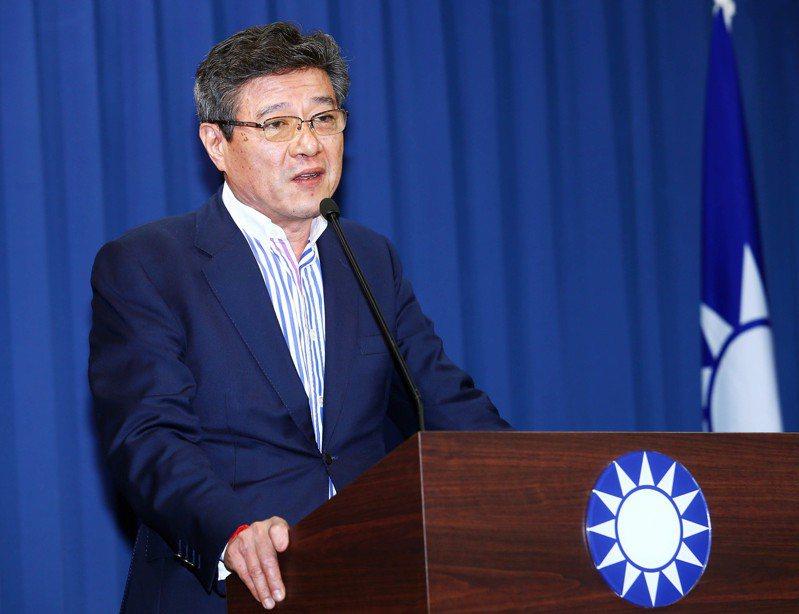 國民黨代理主席林榮德。 聯合報系資料照/記者杜建重攝影