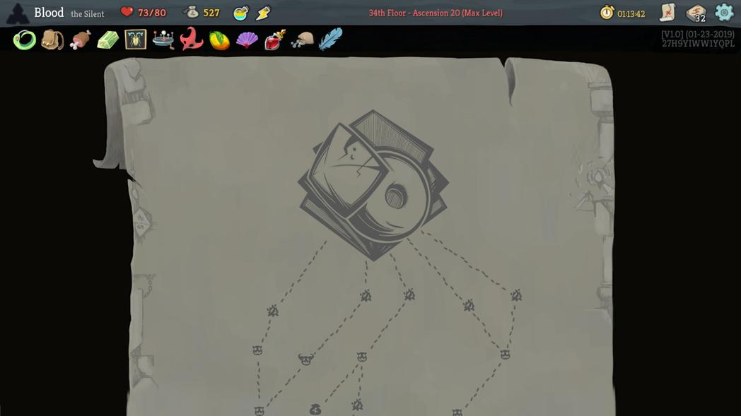 《殺戮尖塔》隨機生成關卡地圖。(圖片來源)