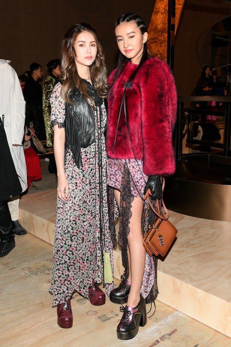 木村光希(右)曾到紐約擔任COACH 2019秋季系列時尚大秀的來賓。圖/COA...