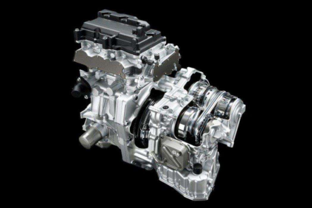 比起傳統AT變速箱CVT的體積要小得多。 圖/Nissan提供