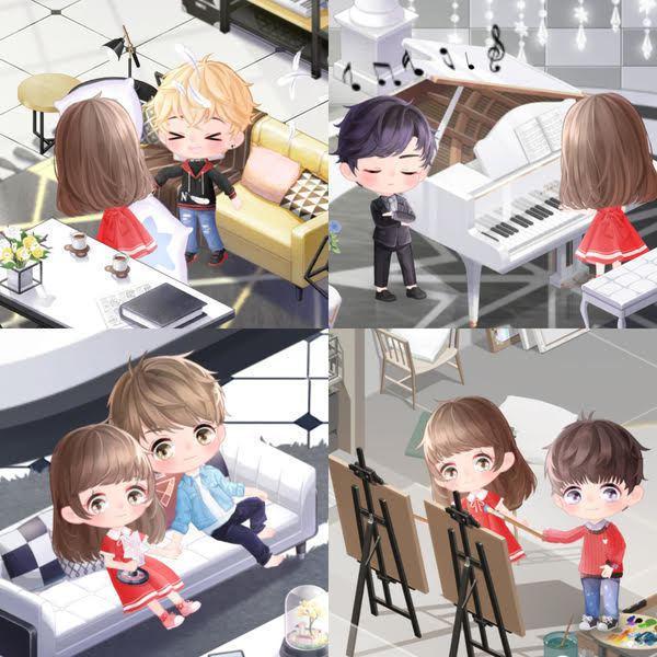 在小屋中玩家可與Q版男主角互動,創造美好回憶。