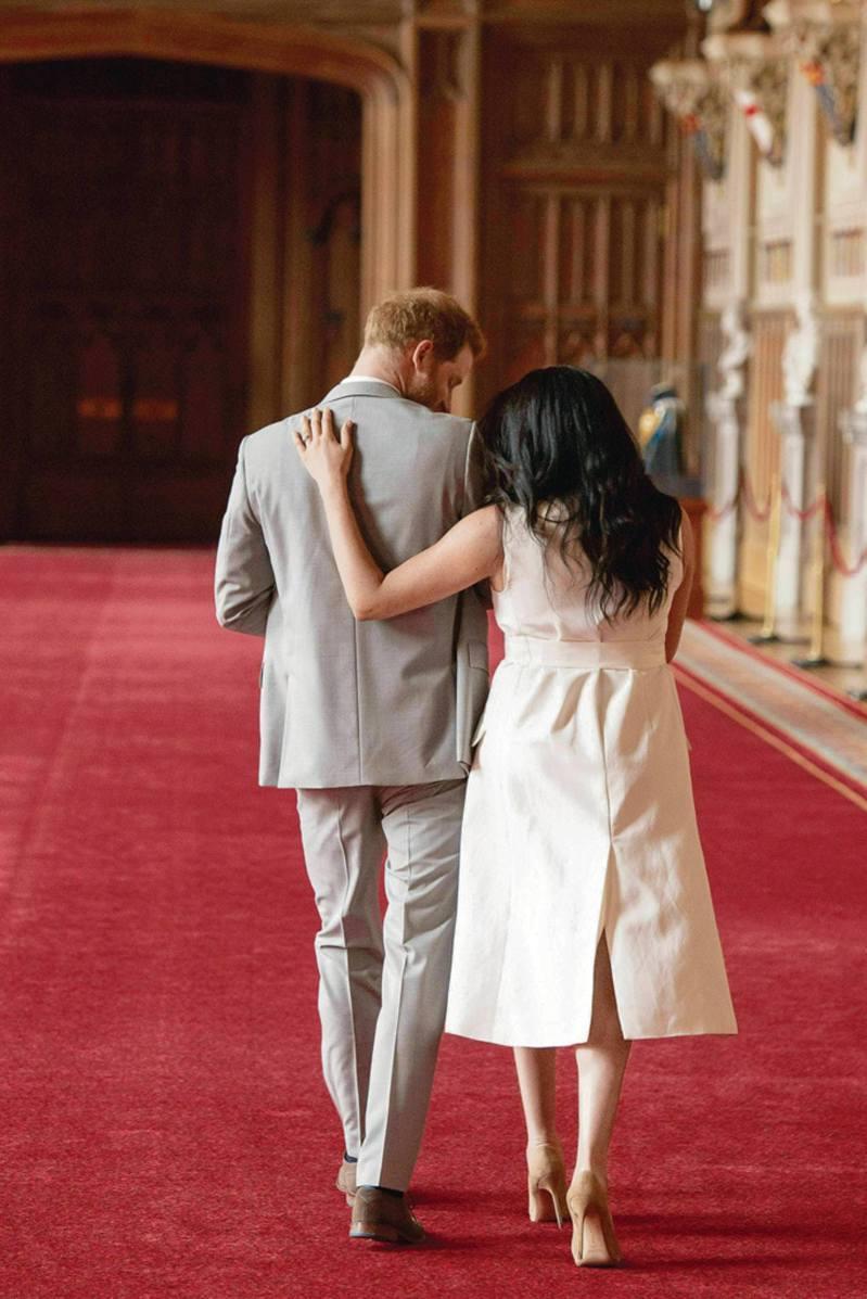 哈利夫婦淡出王室後,將赴北美居住。(美聯社)