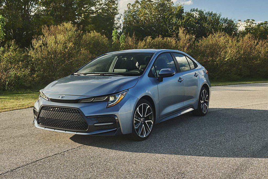 Toyota Corolla車系則以年銷售30.4萬輛,勉強進入銷售排行榜第十名...