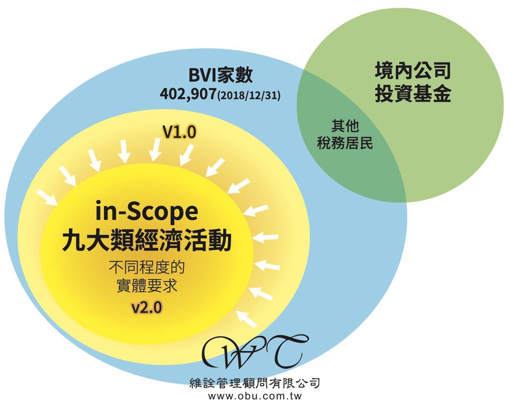 境外公司九大類經濟活動發展說明。維詮/提供