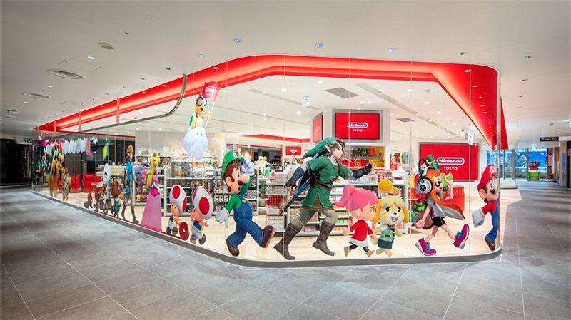 ©Nintendo 店舖外側以 醒目的任天堂各遊戲角色裝飾,讓人心情雀躍。