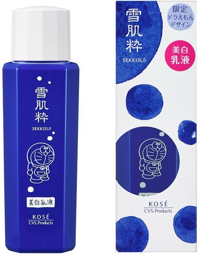 雪肌粹&哆啦A夢聯名包裝乳液,售價980日圓,約台幣270元。圖/摘自雪肌粹官網