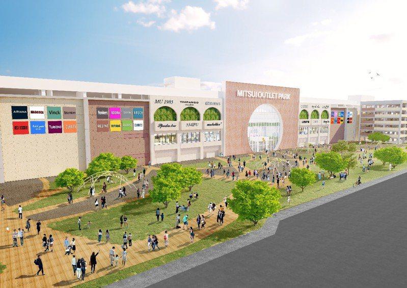 日本三井不動產集團將在台南打造在台的第3座MITSUI OUTLET PARK台南。圖/三井不動產集團提供
