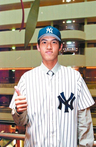 王建民2000年以201萬美元簽約金,加盟紐約洋基隊。圖/聯合報系資料照片
