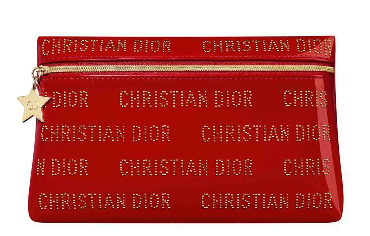 2020迪奧幸運紅漆光美妝包。圖/Dior提供