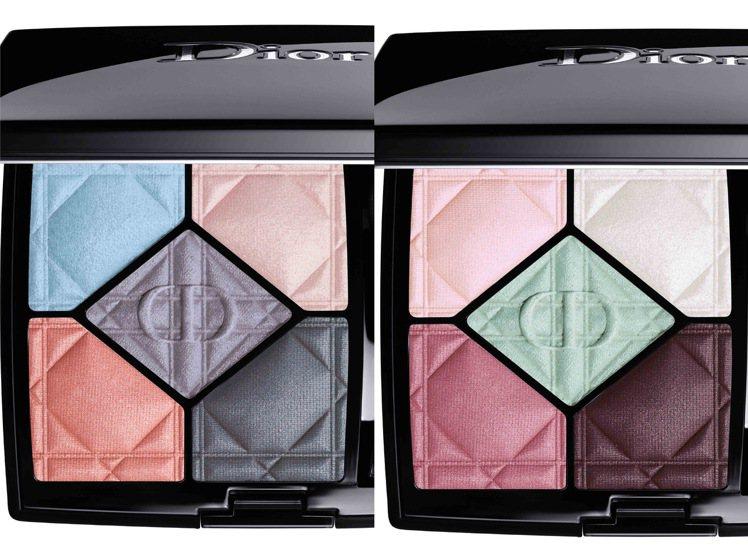 迪奧經典五色眼影7g(左)#037、(右)#897 /2,450元。圖/Dior...