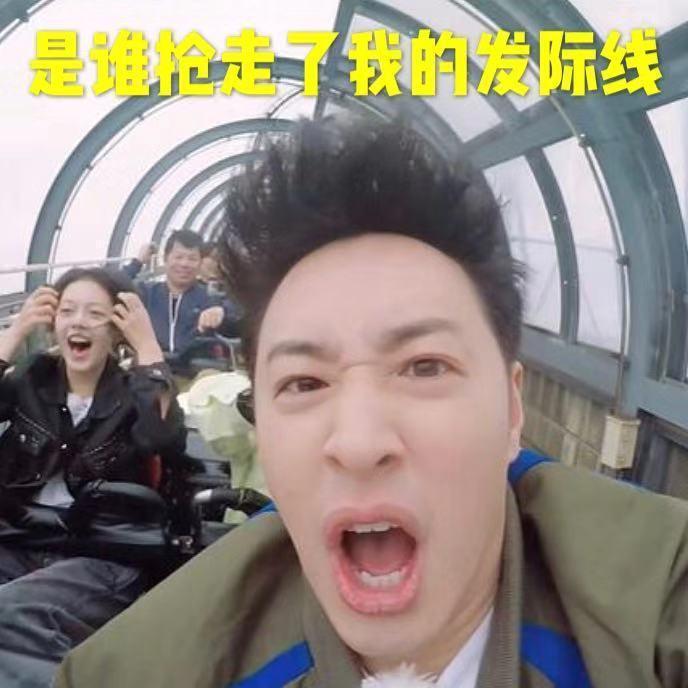 潘瑋柏為了節目搭乘超刺激的雲霄飛車,髮際線引起網友熱議。圖/摘自微博