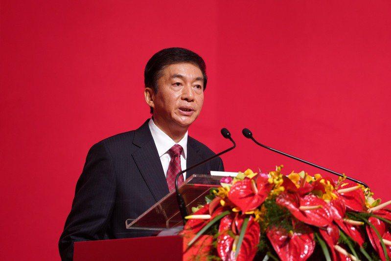 港中聯辦主任駱惠寧昨在中共黨媒人民日報撰文,指國安機制在香港長期缺位,令外部勢力可滲透破壞。 (中新社)