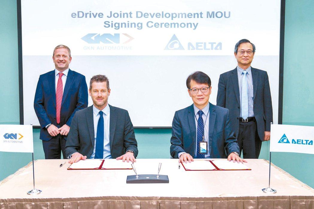 台達電昨天宣布與電動車傳動系統大廠GKN合作,開發新一代三合一eDrive電力驅...