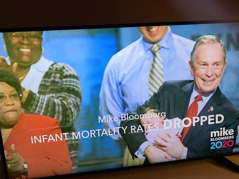 彭博的電視競選廣告。 圖/翻攝自推特