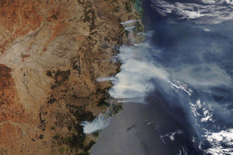 圖為新南威爾斯州的NASA空拍圖。 圖/路透社