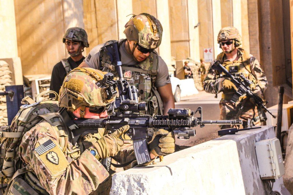 圖為美軍伊拉克特遣部隊。 圖/路透社