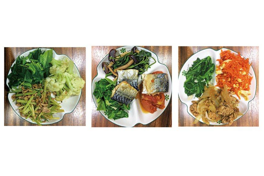 筆者家中的健康餐盤料理範例。 圖/綠主張月刊提供