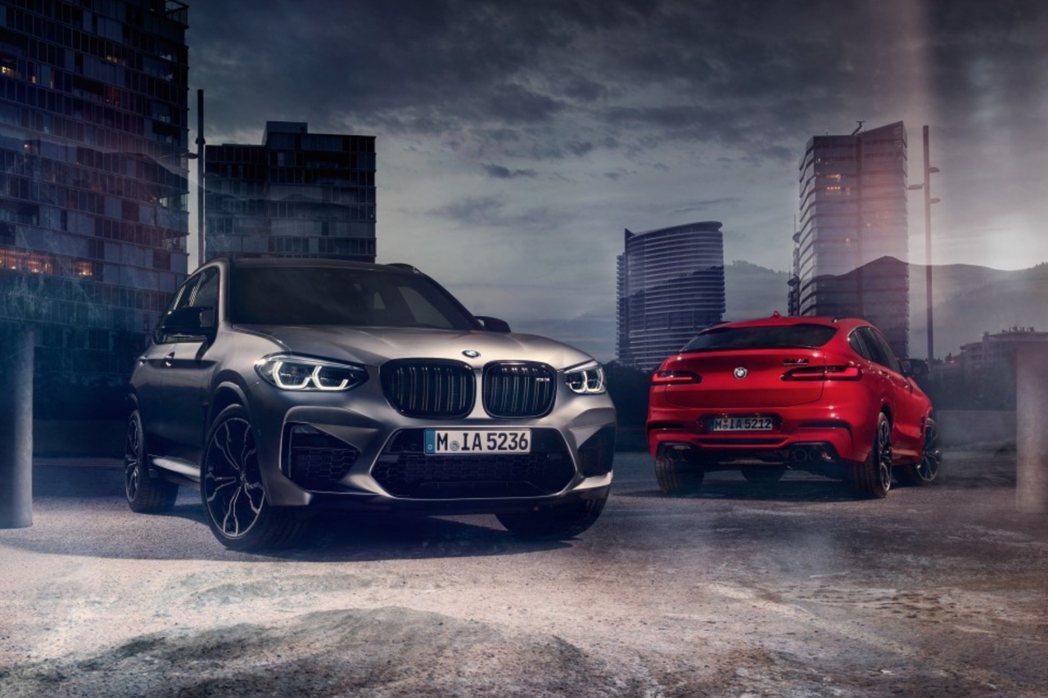 圖為全新BMW X3 M與X4 M,這也是兩車系首度用有M Power的配置。 ...
