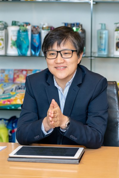 聯合利華總經理何盈德表示,企業有責任帶頭實踐永續理念。 圖/吳欣穎攝影